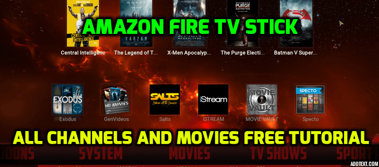 Amazon Fire TV Stick Free Kodi