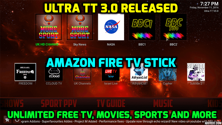Ultra TT 3.0 for Amazon Fire TV Stick Released