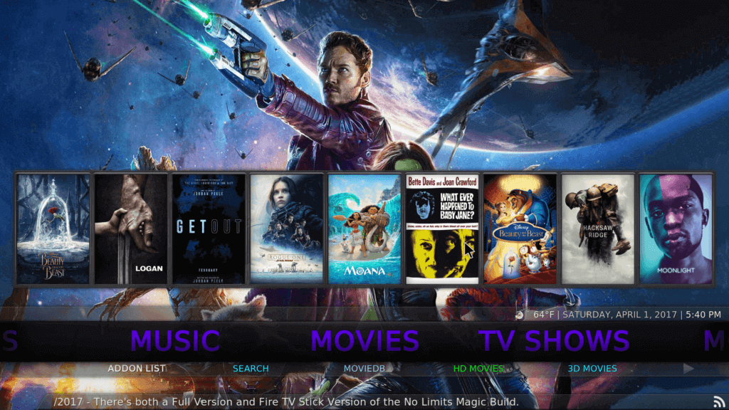 Kodi 17.6 Krypton no Limits Magic Build Version 9.0