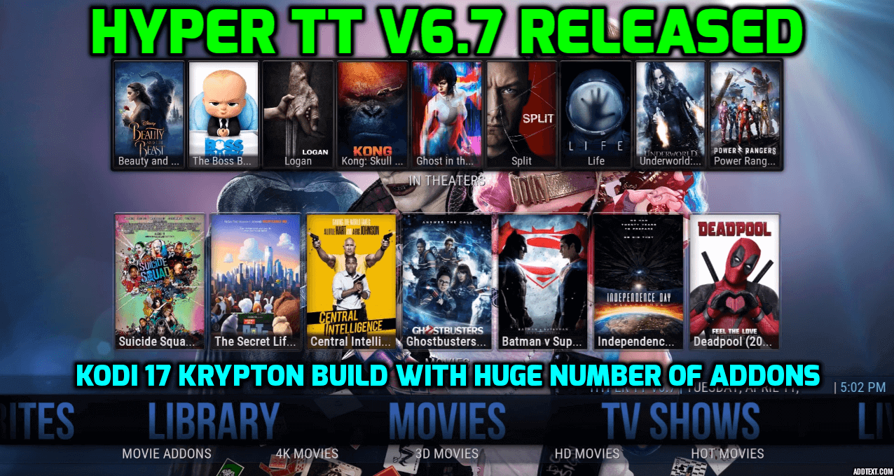 hyper tt v6.7 released kodi 17 krypton build