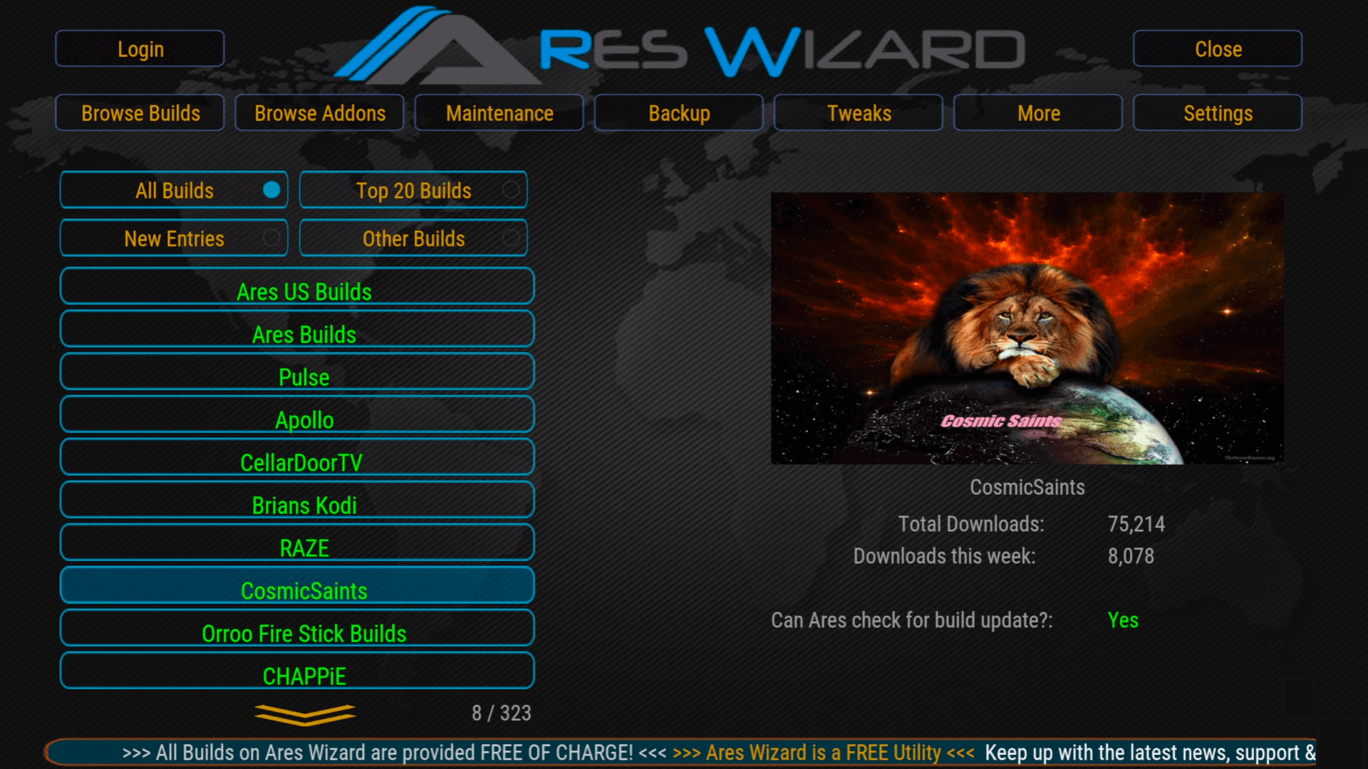 How to Install Ares Wizard on Kodi 17.6 Krypton – Best Kodi Builds