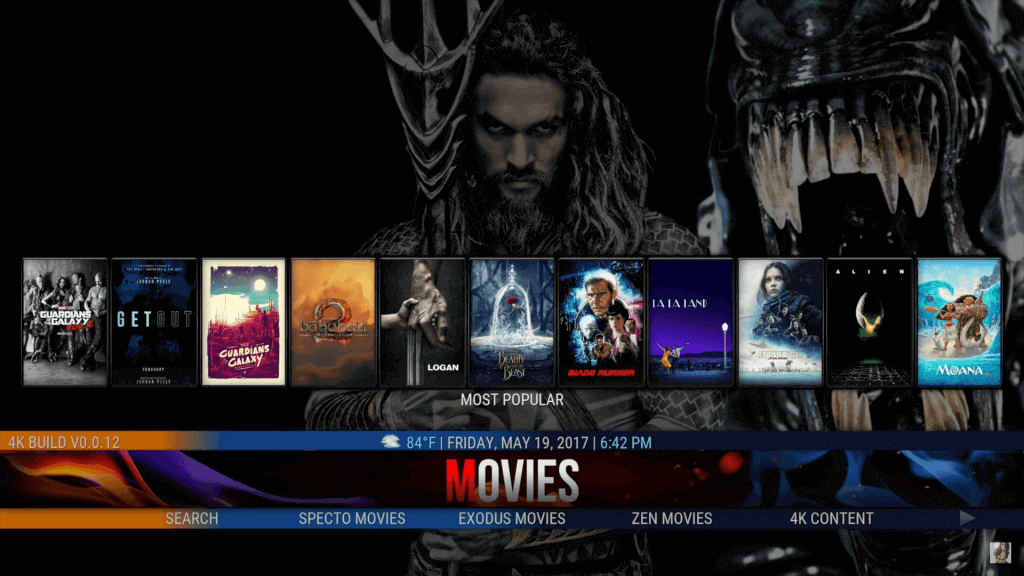 cosmic saints kodi 17.6 krypton build 4k