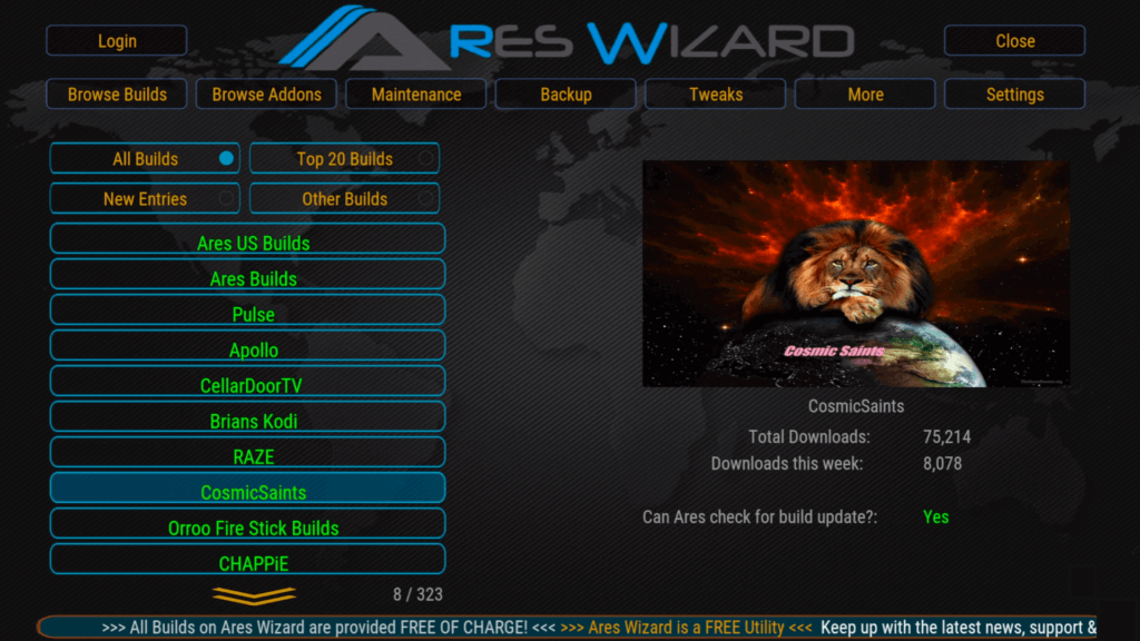 Kodi 18 Leia Ares Wizard Setup Best Kodi Builds