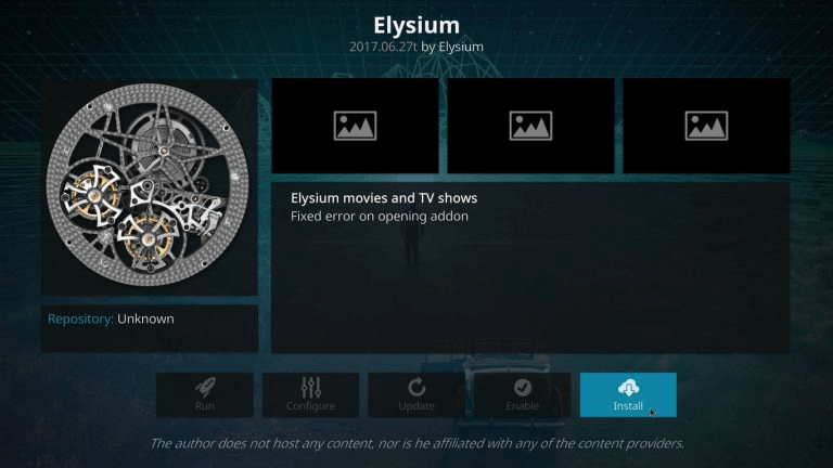How To Install Elysium (Zen) addon on Kodi 17.6 Krypton