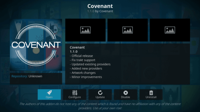 How to Install Covenant Addon on Kodi 17.6 Krypton