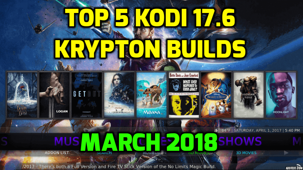 Best Kodi Builds For Android Krypton