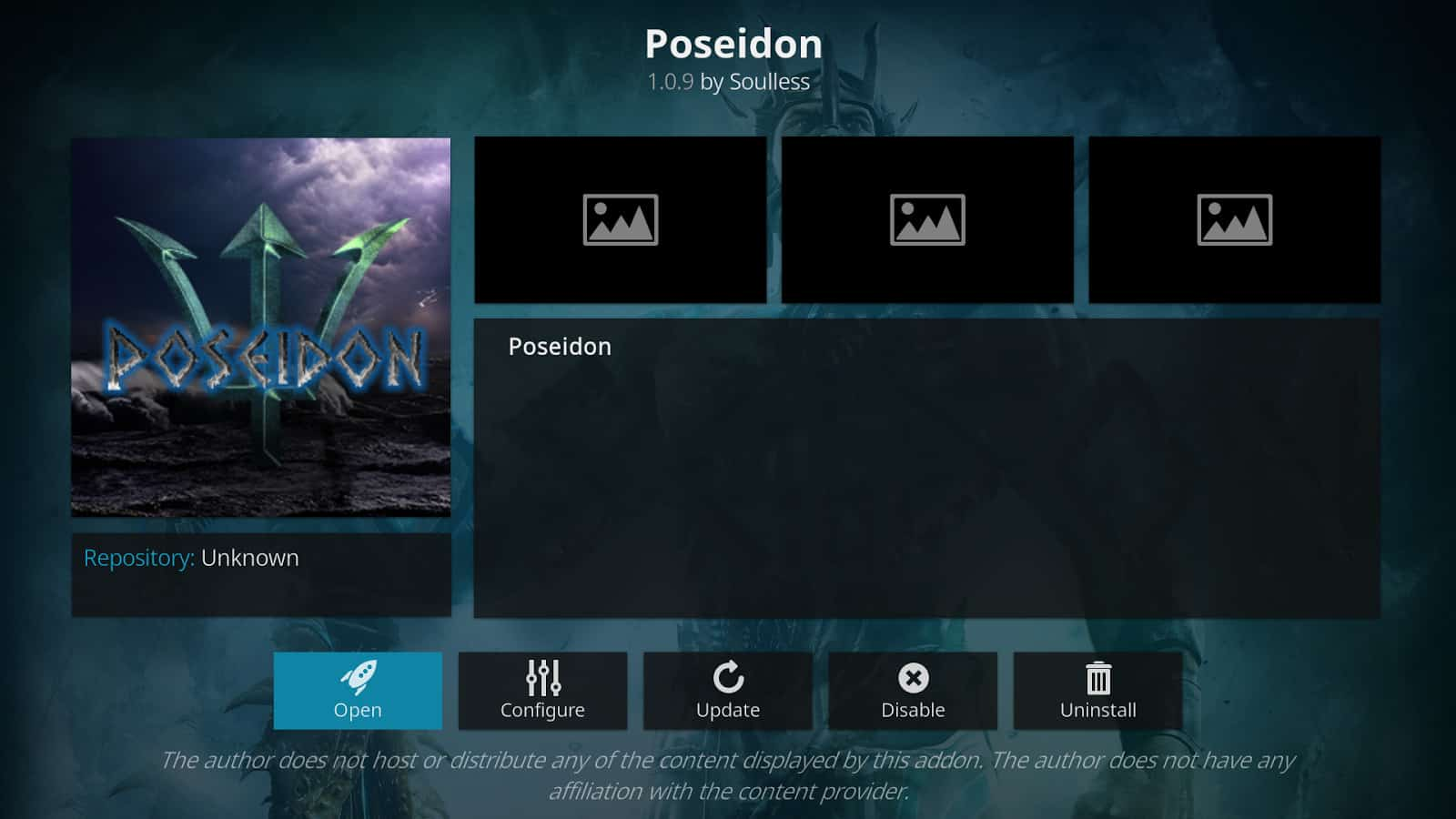 How to Install Poseidon Addon on Kodi 17.6 Krypton