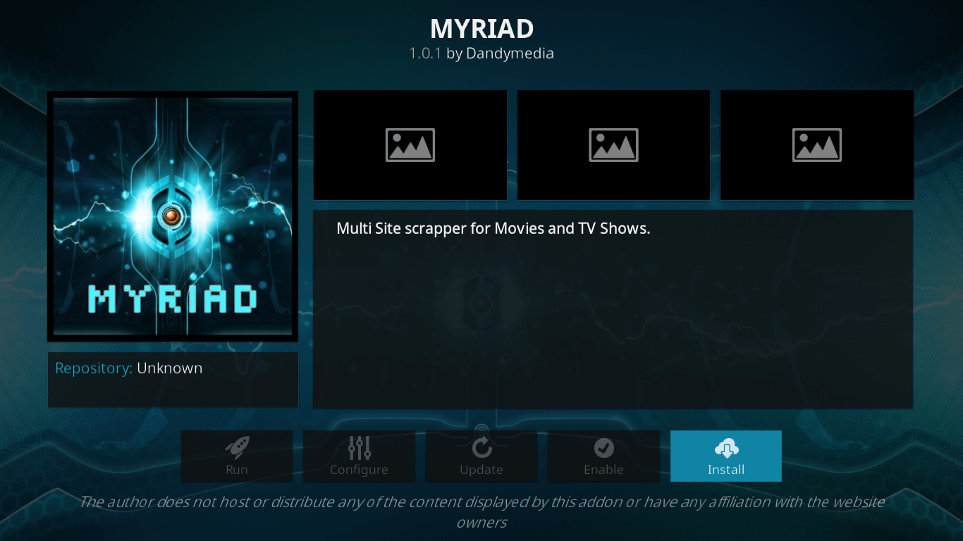 How to Install Myriad Addon on Kodi 17.6 Krypton