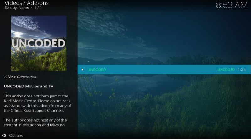 How to Install Uncoded Addon on Kodi 17.6 Krypton