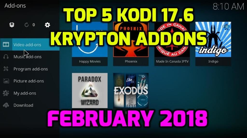 how to add kodi addons 17.6