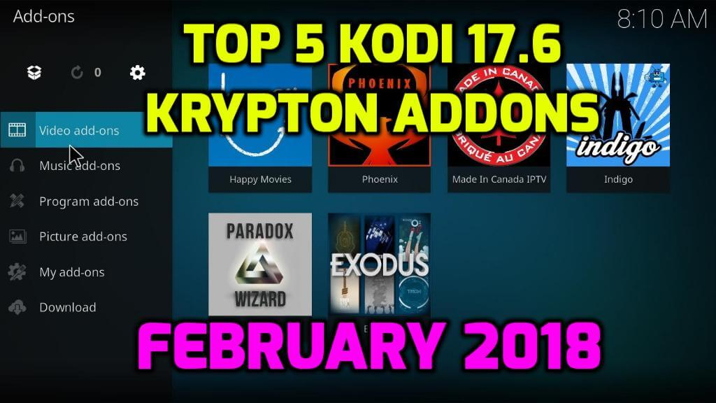 Best Kodi 17.6 Krypton Builds 2018