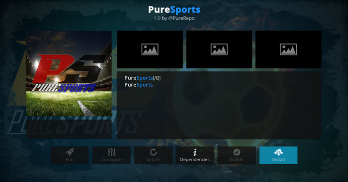 how to install puresports addon on kodi 17.6 krypton