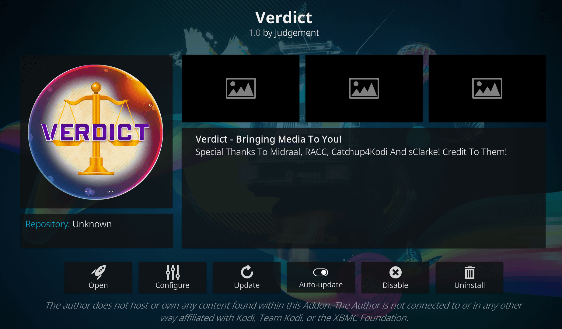 how to install verdict addon on kodi 17.6 krypton