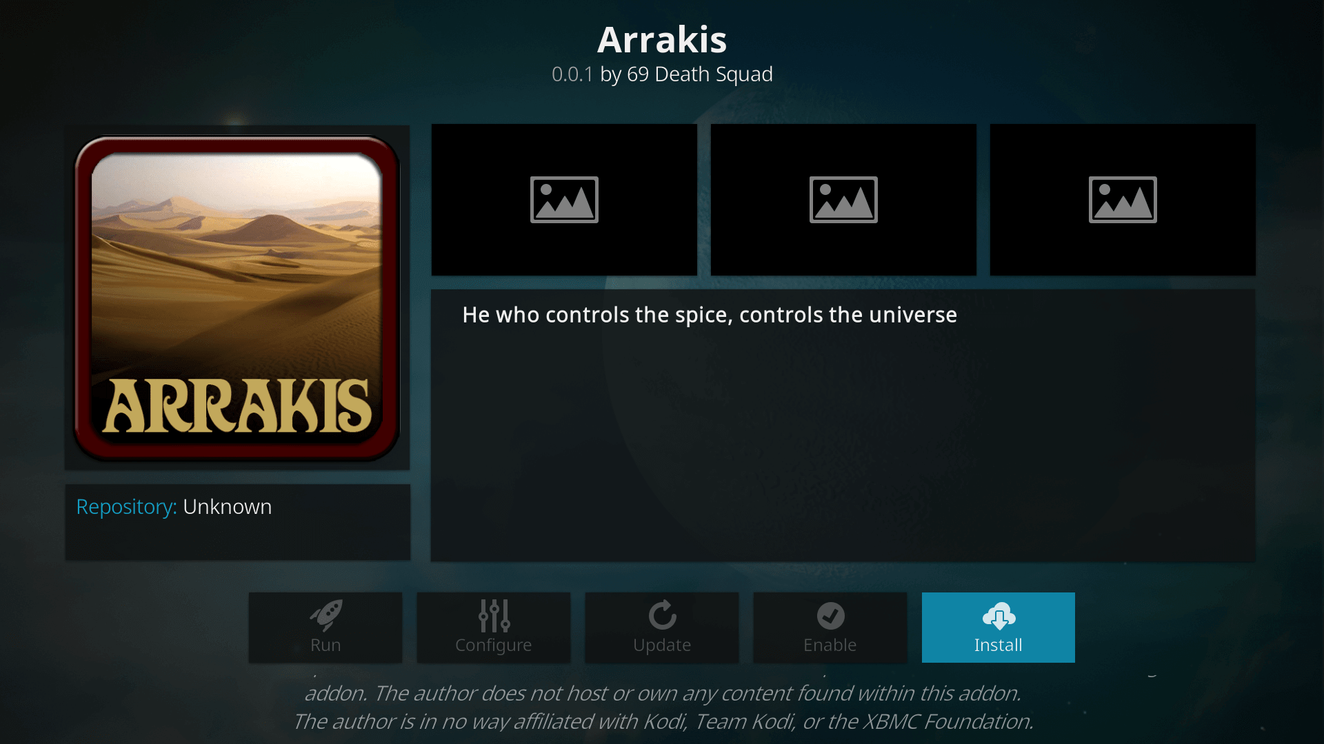 How to Install the Arrakis Addon on Kodi 17.6 Krypton