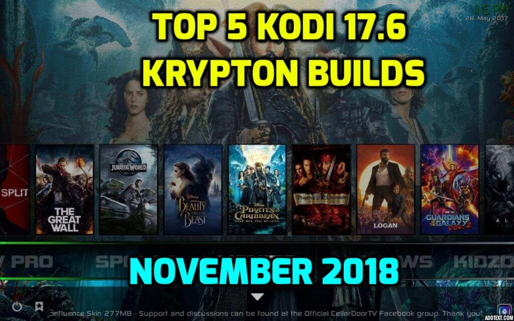 Best Kodi 17.6 Krypton Builds November 2018