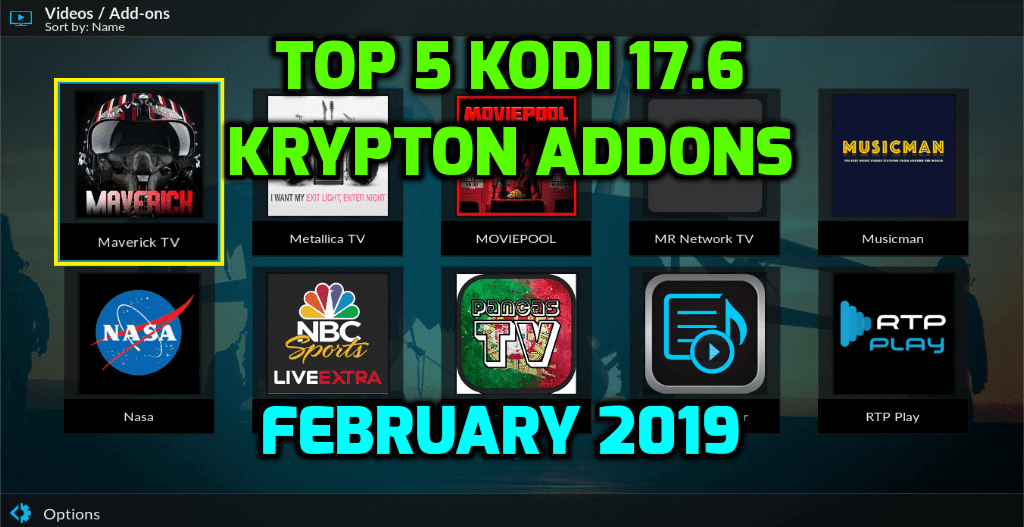 Best Kodi 17.6 Krypton Addons February 2019