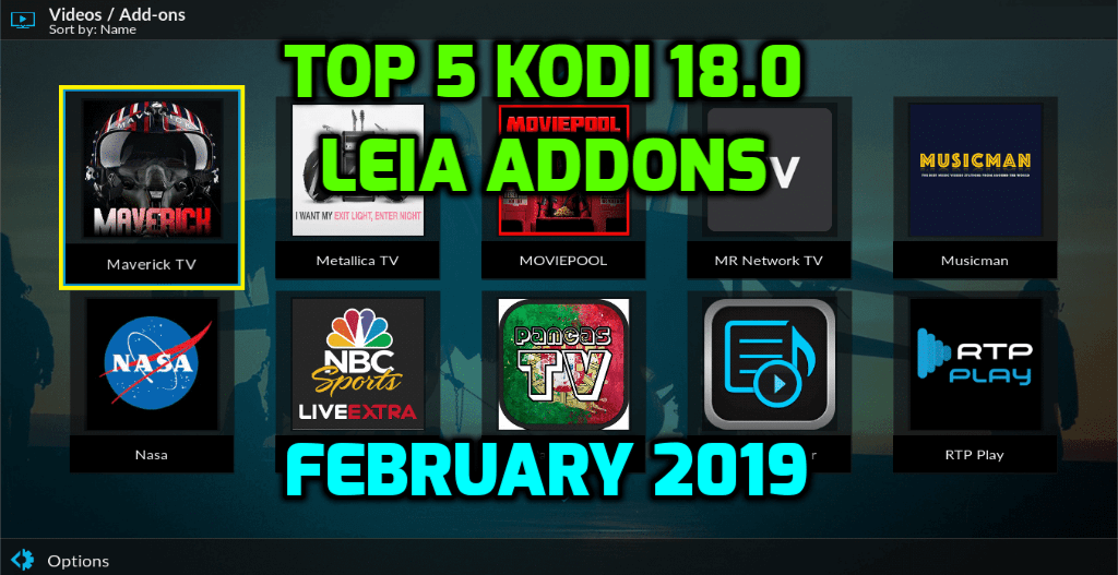 Best Kodi 18.0 Leia Addons February 2019