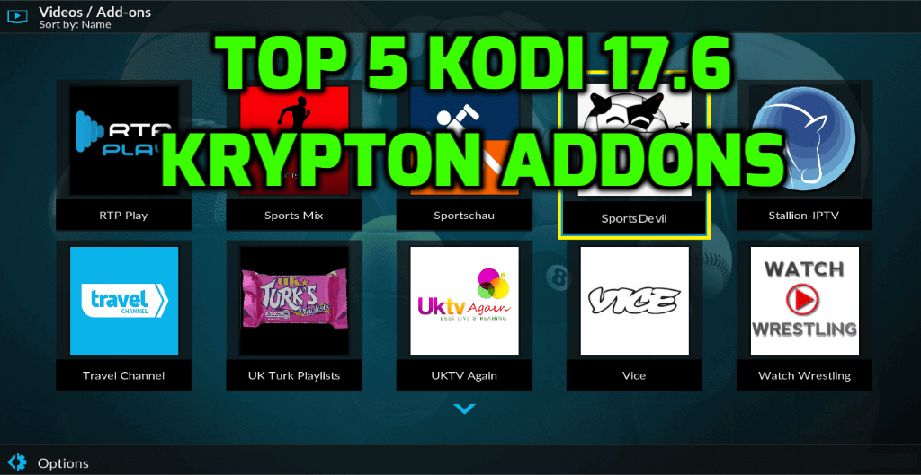 Best Kodi 17.6 Krypton Addons October 2019