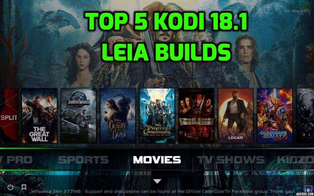 Best Kodi 18.1 Leia Builds March 2019