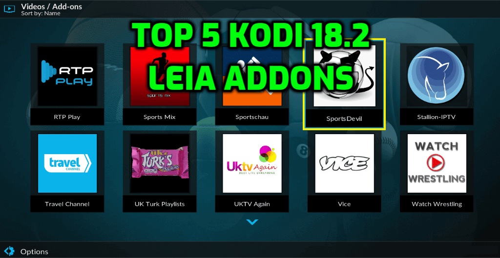 Best Kodi 18.2 Addons Builds May 2019