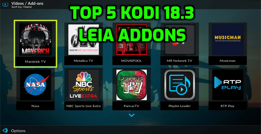 Best Kodi 18.3 Addons July 2019