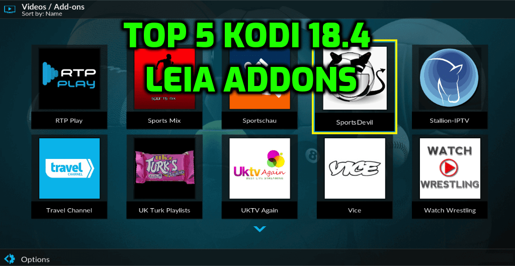 Best Kodi 18.4 Addons October 2019