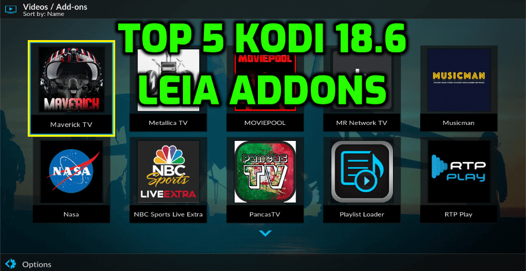 Best Kodi 18.6 Leia Addons March 2020