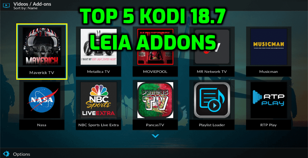 Best Kodi 18.7 Leia Addons June 2020