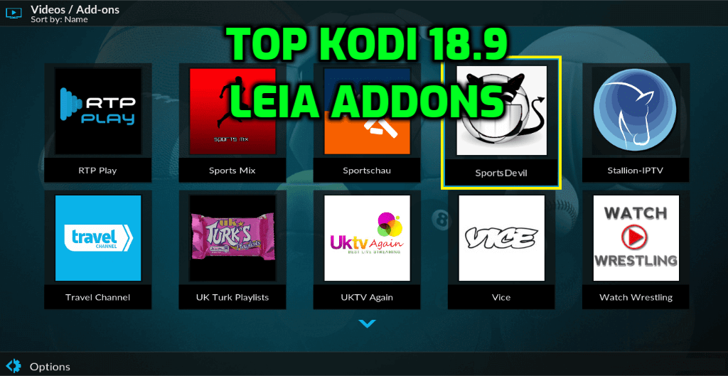 Best Kodi 18.9 Leia Addons November 2020
