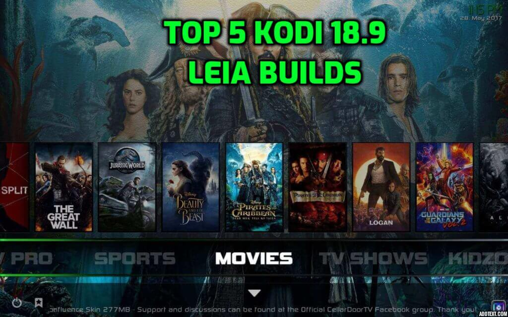 Best Kodi 18.9 Leia Builds November 2020